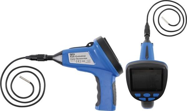 """BGS 63247 Endoskop Farbkamera mit LCD Monitor 3,5"""" und 1 m Schwanenhals Display 320x240 Pixel"""
