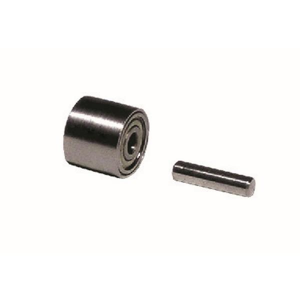 Schleifrad 11076 Dynabrade mit Lager & Achse für Dynafile-Serie Kontaktrad Stahlrolle 13 x 610 mm