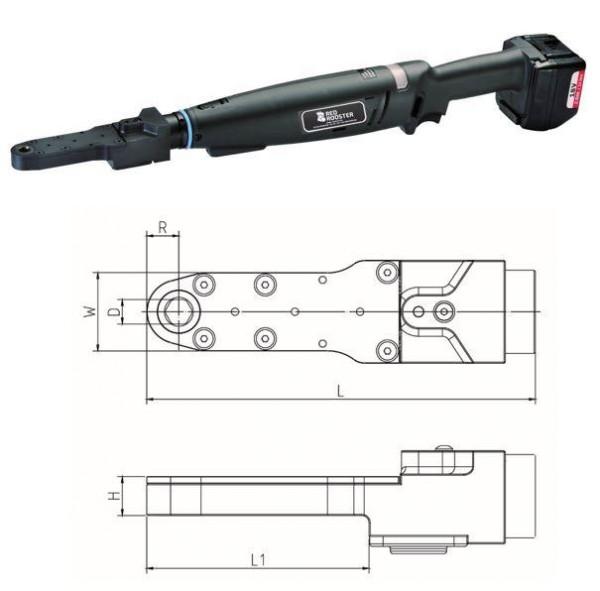 Akku Drehschrauber mit Flachabtrieb RRI-BA10ICA H12 Red Rooster Schlüsselweite 12 mm 5-11 Nm