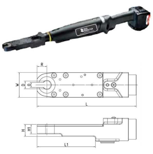 RED ROOSTER RRI-BA10IOA H19 Akkuschrauber mit Offenmaulabtrieb Schlüsselweite 19 mm 7-13 Nm