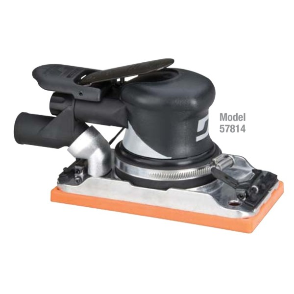 Dynabrade Druckluft-Schwingschleifer 57814 Dynabug mit Zentral-Absaugung 2,5 mm Hub 93 mm x 178 mm