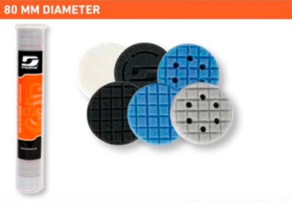 Raster-Polierschaum schwarz 80 mm fein 72801 Dynabrade Polierpad bis 12000 RPM Rollenspender 20 Stk