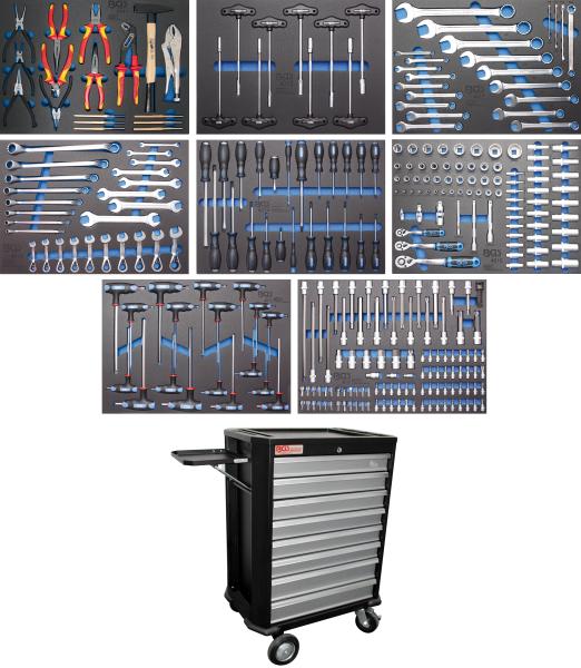 BGS technic 4050 Werkstattwagen | 8 Schubladen | mit 296 Werkzeugen