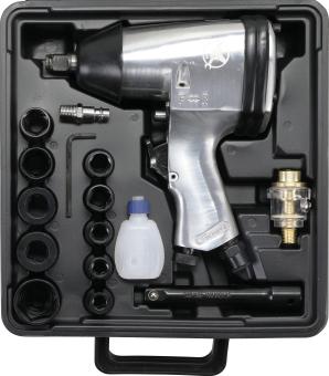 """Kraftmann 3211 Druckluft Schlagschrauber 1/2"""" mit 312 Nm 16-teiliges Set"""