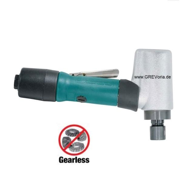 Dynabrade 52223 Druckluft-Winkelstabschleifer mit Spannzange kurzer Schaft extrem Leise 24000 RPM
