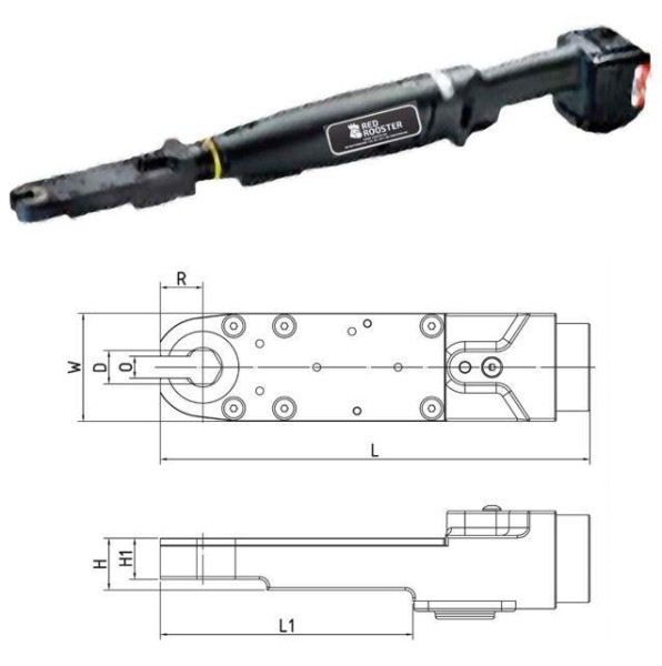 RED ROOSTER RRI-BA35IOA H14 Akkuschrauber mit Offenmaulabtrieb Schlüsselweite 14 mm 16-38 Nm