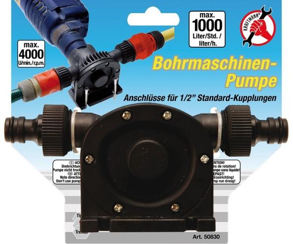 """Kraftmann 50830 Bohrmaschinen Pumpe 1/2"""" Absaugpumpe 1000 l/h Förderpumpe"""