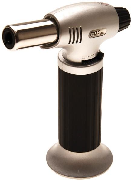 BGS 9872 Gasbrenner mit Piezo Zündung Flammbierer als Taschengasbrenner Butangas Brenner