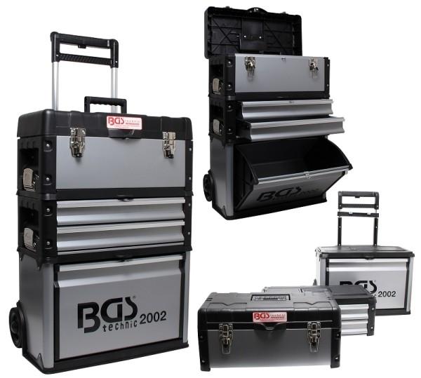 BGS 2002 Montagewagen fahrbar Werkstattwagen Werkzeugtrolley abnehmbare Werkzeugkoffer & Schubladen