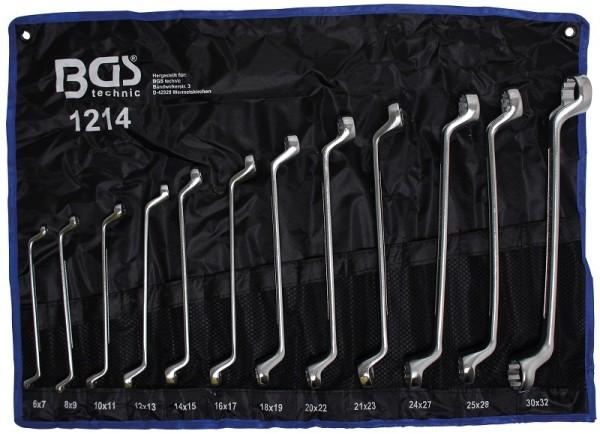 BGS 1214 Doppelringschlüssel Satz gekröpft 12-teilig Doppel Ringschlüssel SW 6 x 7 - 30 x 32 mm