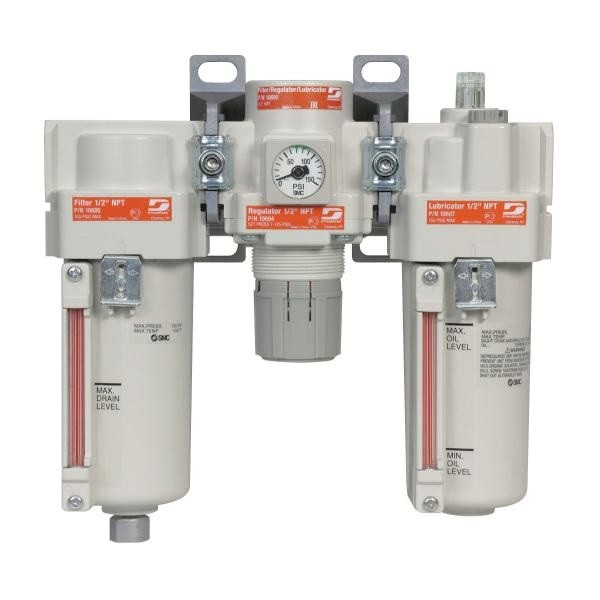 "Dynabrade 10690 Wartungseinheit 1/2"" Filter Regler Öler in Kombination"